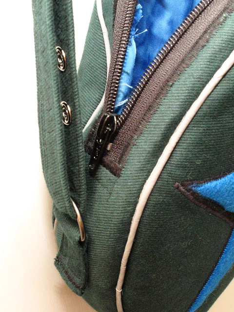 Zipper and snap detail