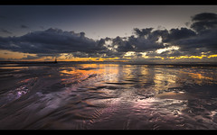 Aftersun, pools of gold, Crosby beach, Explore Frontpage! (Ianmoran1970) Tags: blue sky cloud colour reflections landscape gold purple sundown boots explore frontpage aftersun muddyboots explored ianmoran ianmoran1970