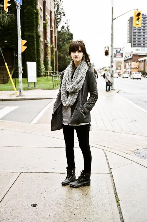 Scarf, Street Fashion @ Bloor St. W., Toronto