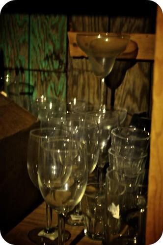 basement glassware