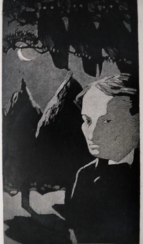 Les Hiboux, gravure de Henry Chapront pour le poème de Baudelaire