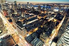 Twilight over Hells Kitchen, New York City (andrew c mace) Tags: city newyorkcity roof newyork rooftop skyline twilight cityscape manhattan tokina1224 hellskitchen colorefex nikoncapturenx nikond90