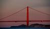 A Minute Before Sunrise this morning (gcquinn) Tags: bridge sunrise golden bay gate san francisco anniversary geoff quinn geoffrey 75 75th mywinners