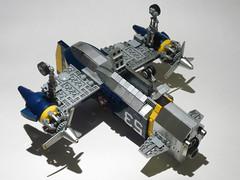 Skyhammer (JonHall18) Tags: plane fighter lego aircraft fantasy scifi vehicle gunship moc skyfi dieselpunk dieselpulp