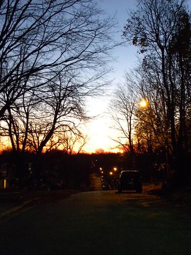 My street at dusk