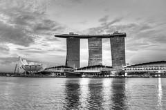 Marina Bay, Singapore in HDR (Nir Sinay) Tags: blackandwhite bw singapore walkabout cbd sands hdr 2010 lightroom skypark marinabay photomatixpro marinabaysands canoneos40d canonefs18200mmf3556is