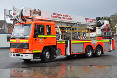 Kerry Fire and Rescue KY 11E1 Volvo FL10 Angloco Bronto F32HDT ALP 97KY5146 (Ex Lancashire P551 WHG) (Shane Casey CK25) Tags: county rescue ex fire volvo platform aerial kerry lancashire service ladder alp tralee whg hdt bronto f32 fl10 angloco p551