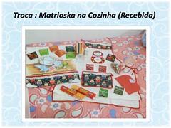 Troca: Matrioska na Cozinha (Flores e Artes2010) Tags: chocolates avental carta caneca matrioska troca chs panodeprato