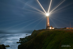 Return to Pigeon Point Lighthouse - 138th Anniversary (Darvin Atkeson) Tags: ocean california park lighting light sea lighthouse house seascape reflection lens point coast san lighthouses state pacific anniversary pigeon famous landmark beam event moonlight fresnel mateo beams sanmateo tallest darvin tourisim atkeson darv liquidmoonlightcom