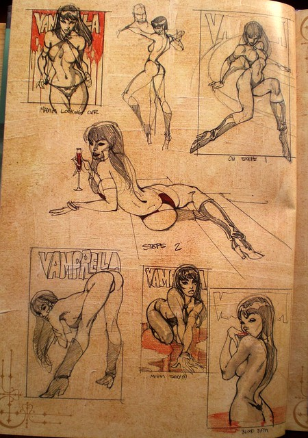 Vampirella sketchs  (J Scott Campbell Monster Green, the wicked files, 2009)