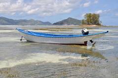 Seychelles boat 1 (pentlandpirate) Tags: blue sea coral relax island islands boat sand paradise turquoise indianocean palm exotic granite tropical seychelles fishingboat equator mahe ladigue seychellen seychelle