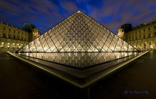 Musee du Louvre en Triangle