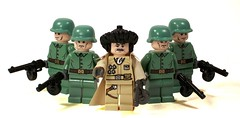 Russians (*Nobodycares*) Tags: lego wwii troopers trenchcoat worldwarii ww2 soldiers guns axis russians worldwar2 uas motherland ppsh brickarms brickforge mmcb