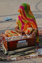 Veiled Woman, Playing an Organ (Peter Cook UK) Tags: ranakpur organplayer