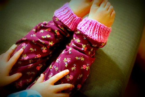 a pair of legwarmers