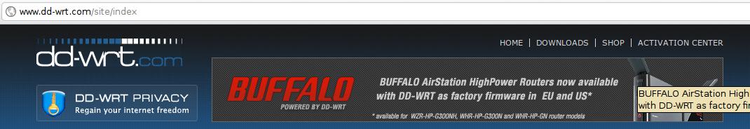 dd-wrt & buffalo partnership