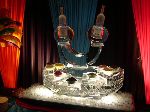 Caviar Display with Vodka ice sculpture