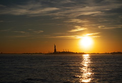 P1040792a (Michael.Lee.Pics.NYC) Tags: sunset newyork statueofliberty