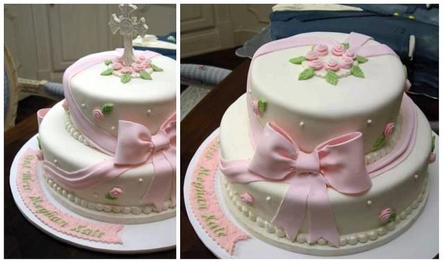 christening cake - baby girl