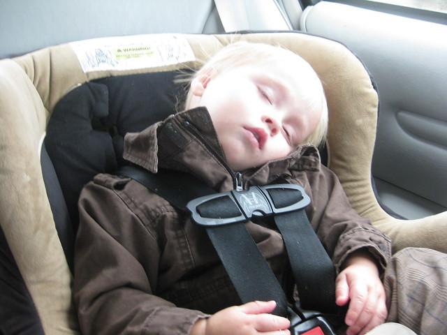 Fell asleep in the car