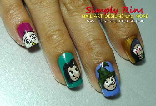 Nail Art Harry Potter Characters 03