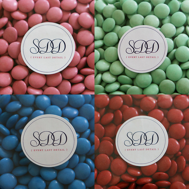 Single coloured choc beans or smarties