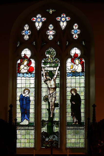 Stained glass edward burne-jones guilsborough northamptonshire