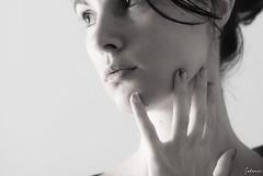 (selenis) Tags: portrait bw self nikon retrato pb r highkey 2010 d80 50mmf14g