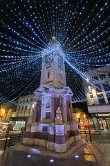 clock tower, brighton under christmas lights (Laurence Cartwright) Tags: uk england photo photograph weststreet queensroad dykeroad northstreet laurencecartwright