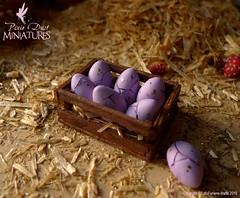 Purple dragon eggs - 1:12 scale dollhouse miniature (pixiedustminiatures) Tags: house fairytale miniatures twilight dolls dragon shrek witch wizard harry potter lord rings fairy fantasy magical dollhouse