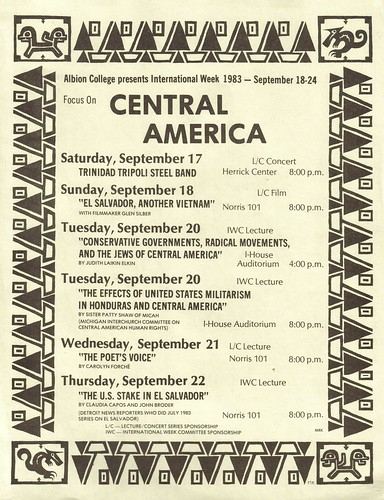FOCUS ON CENTRAL AMERICA: Albion College presents International Week 1983 - September 18-24