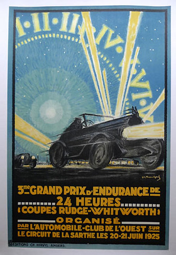006-LeMans 1925-© 2010 Vintage Auto Posters. All Rights Reserved