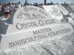 Crystal Sand Logo Wall