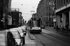 Amsterdam B&W Tram (pepemczolz) Tags: danger blackwhite tram amsterdamsonya350minolta50mmf17