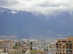 A view of Eastern  Santiago in the winter.