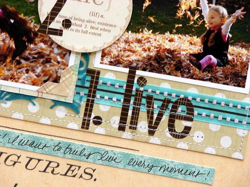 1. live 2. life (close-up)