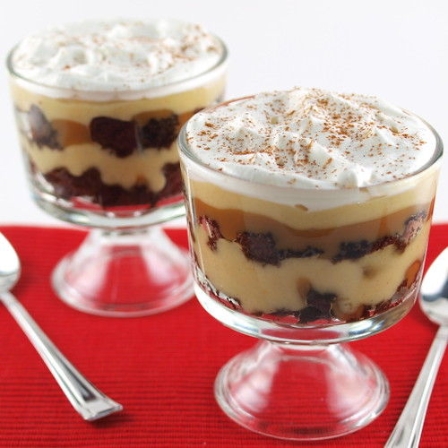 Chocolate Gingerbread, Pumpkin, and Sticky Toffee Trifle