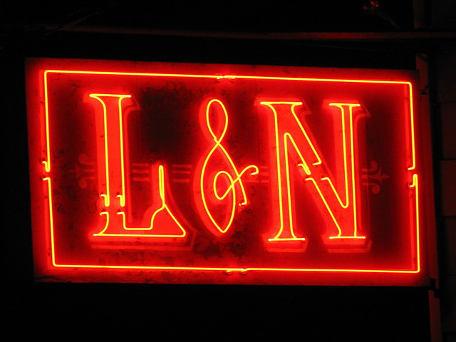 L&N Depot neon sign - Knoxville, TN
