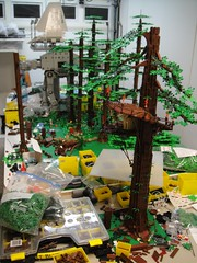 A little bit more done (brickplumber) Tags: starwars endor starwarslego fbtb