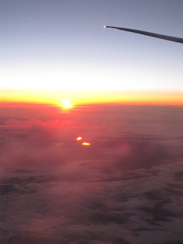 Another Sunrise on a Plane