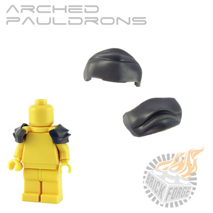 Arched Pauldrons - Dark Blueish Gray
