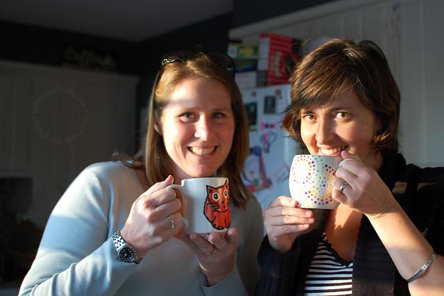 Gumball & dottery mugs