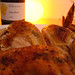 Roast chicken and Vinsobres