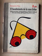 """""""El Hundimiento de la casa usher"""", portada de Manolo Prieto (obaku estudio) Tags: 1940 ilustracin manoloprieto diseogrficoantiguo"""