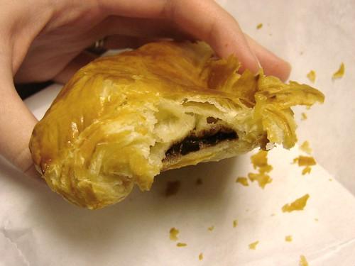 Inside Pret Chocolate Croissant
