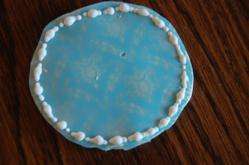 Ladies' Night Cookies in White Chocolate Blue Lace