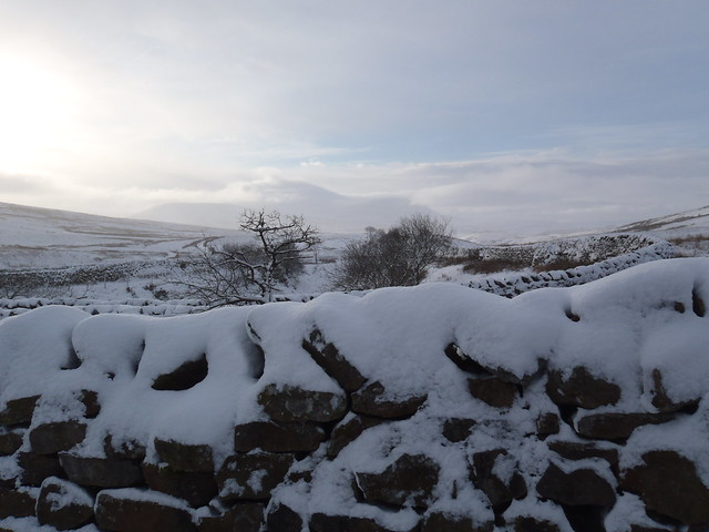 A snowy view towards Ingleborough