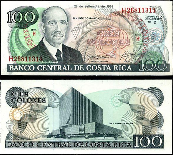 100 Colones Kostarika 1993, P261