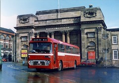 A personal favourite. (Renown) Tags: buses nbc stokeontrent alexander staffordshire coaches queenstheatre reliance burslem aec semiautomatic pmt dualpurpose nationalbuscompany singledecker ytype potteriesmotortraction ah691 collierybus 8u2r pvt108f