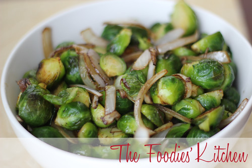 Brussel Sprouts with Vinegar Glazed Onions